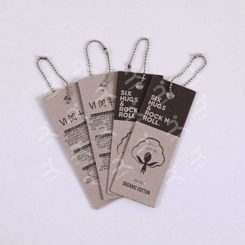 Runhee receycled cardboard hangtag, made from 100% recycled paper