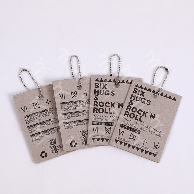 Recycled paper hangtag