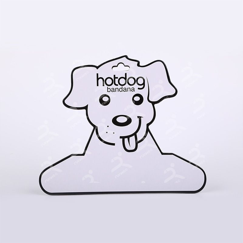 Dog head paper hanger for garment